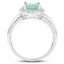 Emerald And White Topaz Sterling Silver Ring - Classy Swan
