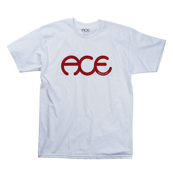 ACE TRUCKS RING TEE -WHITE