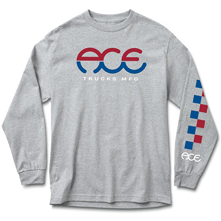 SPLIT STANDARD L/S LOGO - HEATHER GREY