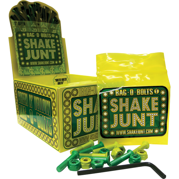 SHAKE JUNT GREEN AND YELLOW BOLTS - BOX OF 10 PKS