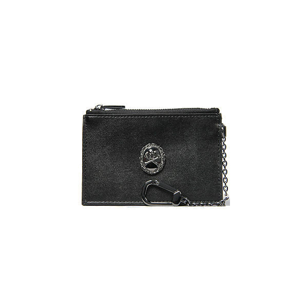 OLDE SKULL COIN POUCH BLK