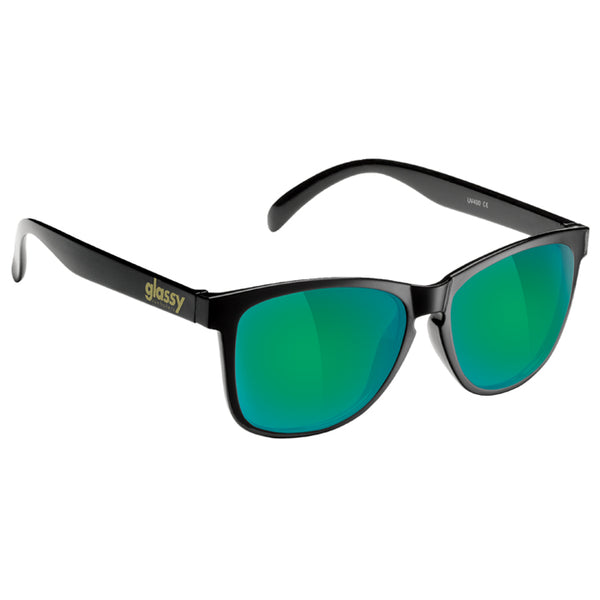 DERIC - MATTE BLACK/ GREEN MIRROR