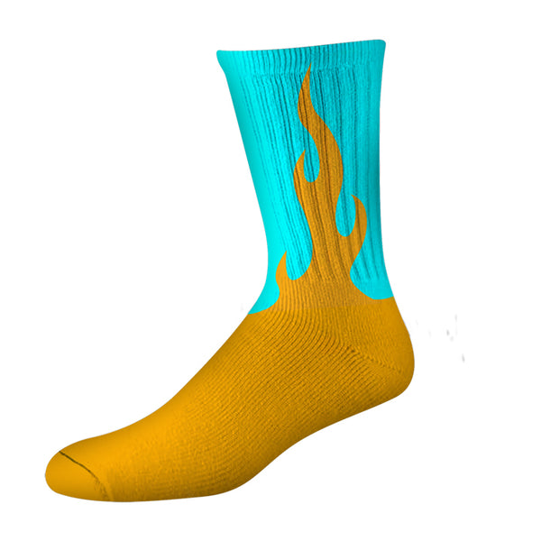 FLAMER PSOCK - ORANGE/BLUE NEON