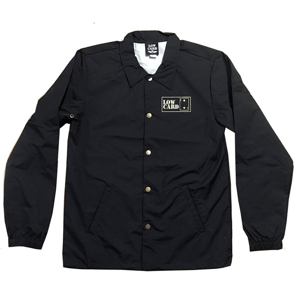 GOLD CUB COACH JACKET - BLACK