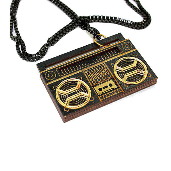 GHETTO BLASTER BLK GOLD