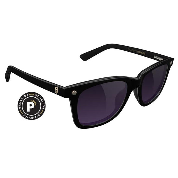 MIKEMO - PREMIUM POLARIZED BLACK/ PURPLE SMOKE
