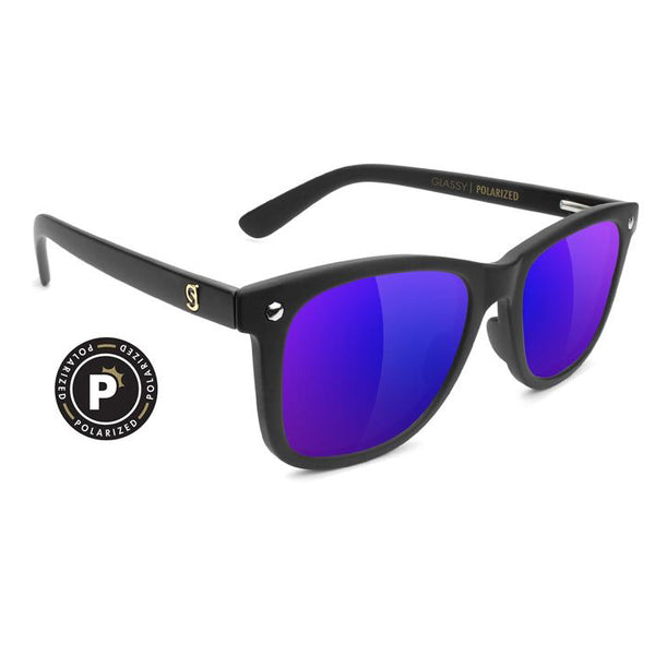MIKEMO - PREMIUM POLARIZED MATTE BLACK / BLUE MIRROR