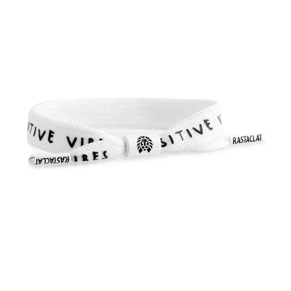 SINGLE LACE - POSITIVE VIBES WHITE