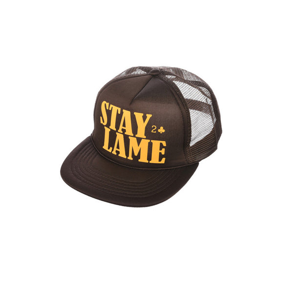 STAY LAME MESH TRUCKER - BROWN