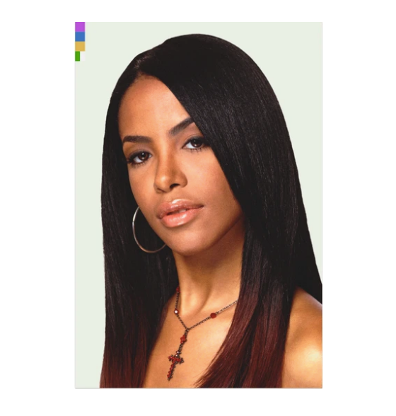 AALIYAH Portrait sticker