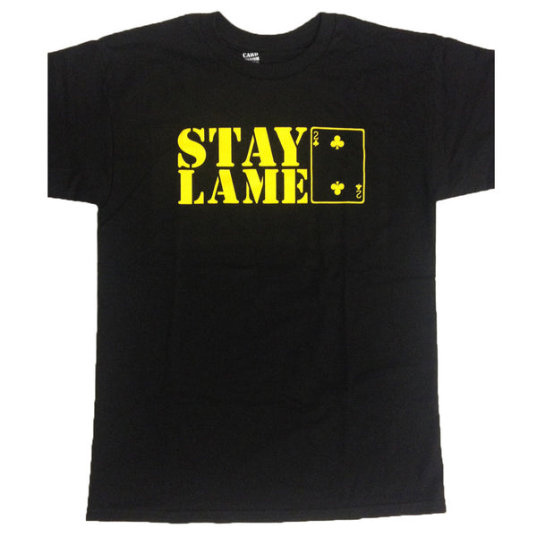 STAY LAME LOGO TEE - BLACK