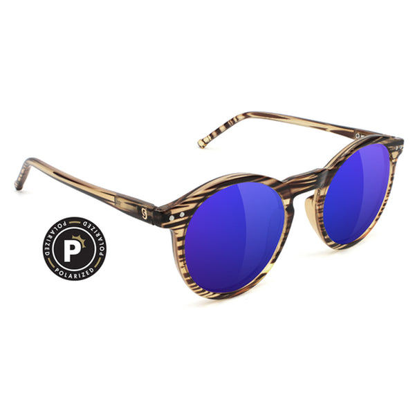 TIMTIM PREMIUM POLARIZED - HONEY/BLUE MIRROR