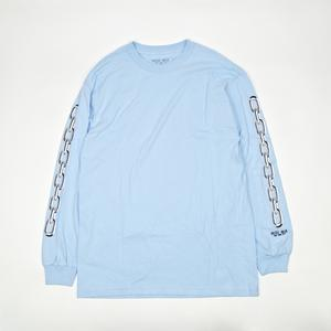 CHAINS L/S TEE -LIGHT BLUE