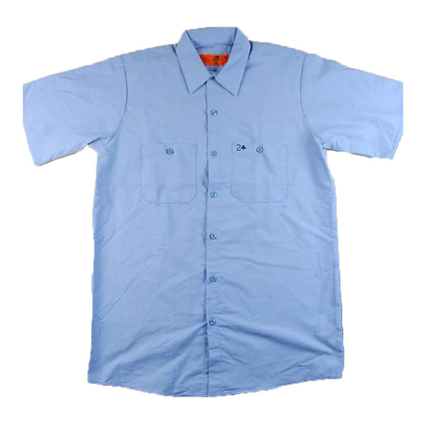 BLUE CARD BUTTON DOWN - BLUE