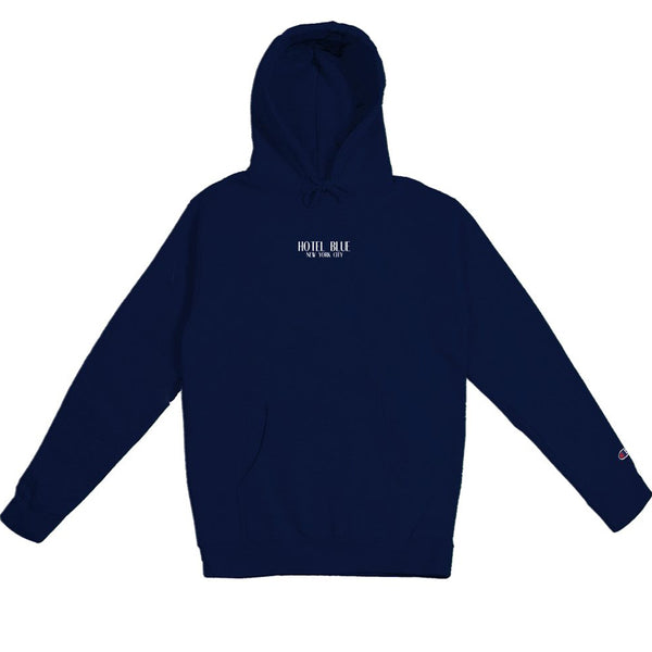 LOGO CHAMPION HOODY - NAVY