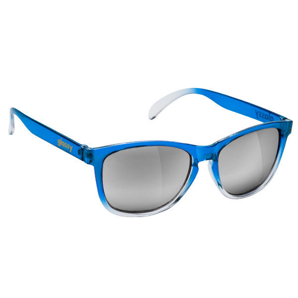 Deric - Blue Transparent Fade/Silver Mirror