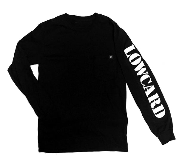 POCKET LONGSLEEVE TEE - BLACK