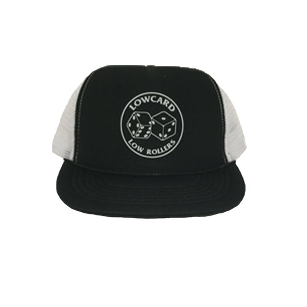 Low Roller Mesh Hat - Black/ White