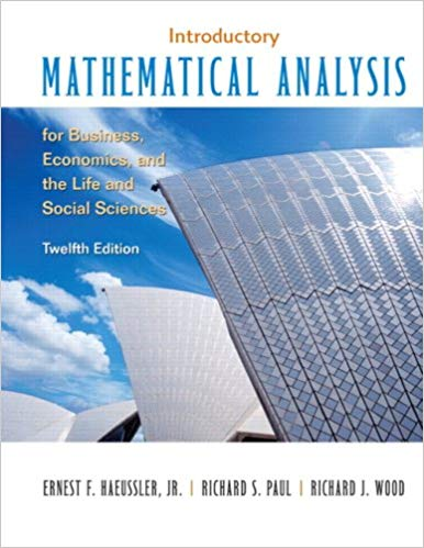Introductory Mathematical Analysis for Business, Economics, and the Life and Social Sciences: Pearson New International Edition - Online Bookshop in Nigeria | Shop Kids, health, romantic & mo