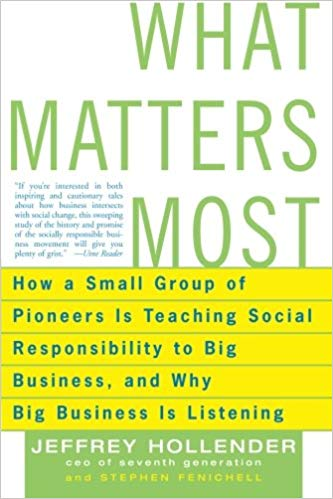 What Matters Most: How a Small Group of Pioneers Is Teaching Social Responsibility to Big Business, and Why Big Business Is Listening - Online Bookshop in Nigeria | Shop Kids, health, romanti