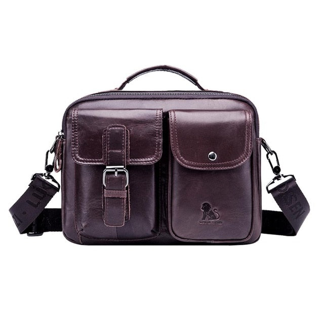 Men Genuine Leather Handbags Casual Leather Laptop Bag - Online Bookshop in Nigeria | Shop Kids, health, romantic & more Books!