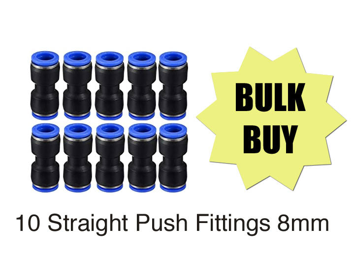 "10 pack straight union push fitting 8mm 5/16"" Canada"
