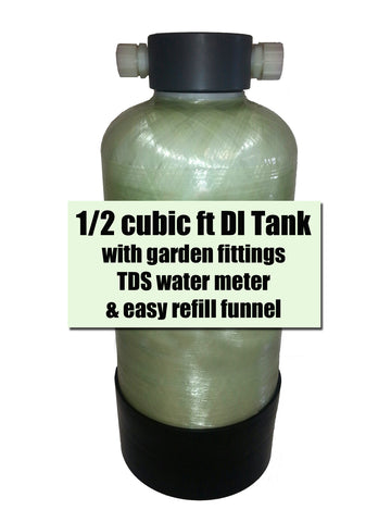 1/2 cubic ft DI Tank with TDS meter and Funnel