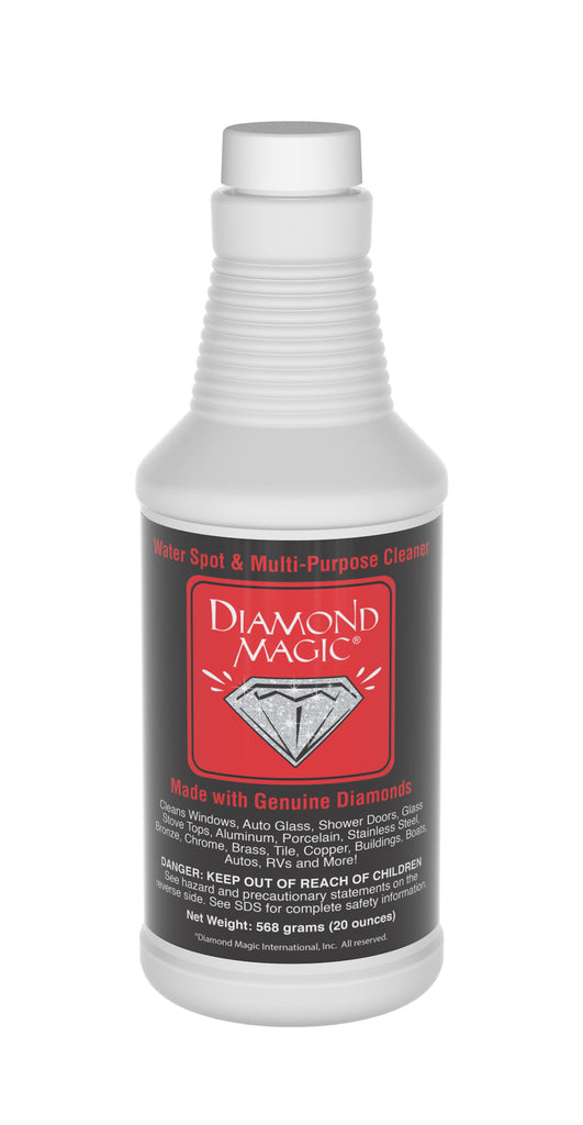 Diamond Magic Stain hard water stain remover polisher for glass and other surfaces