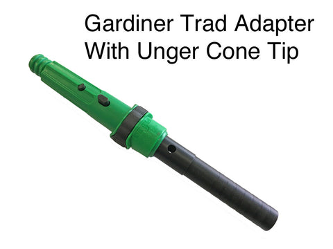 Gardiner Trad Adapter With Unger Locking Cone Tip