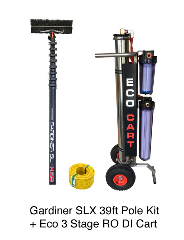 ECO 3 Stage RODI Cart + Gardiner SLX 39ft Carbon Fibre Pole Kit - SHIPS FREE