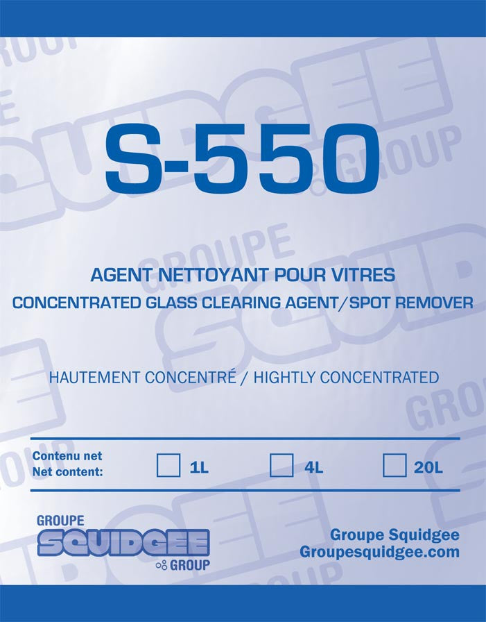 550 hard water stain removal clearing agent