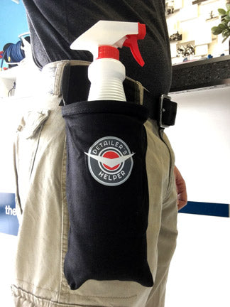 bottle holder on a belt pouch Canada USA window cleaning