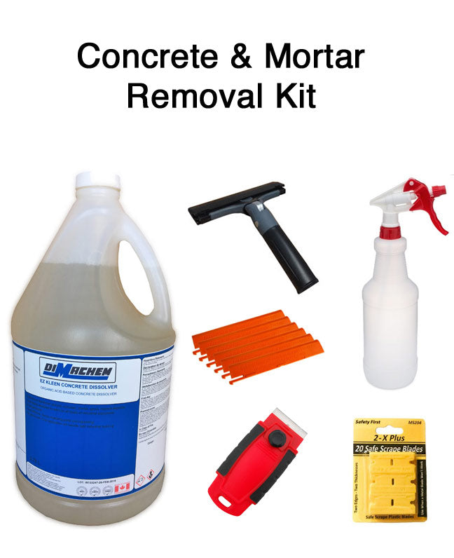 Concrete & Mortar removal chemicals and tools