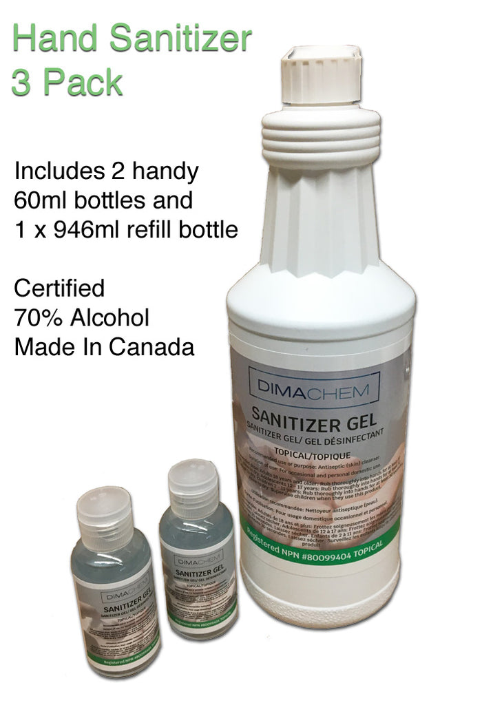 Hand Sanitizer Gel 3 Pc Pack