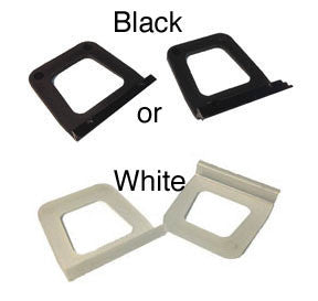 window screen pull tabs strong black or white