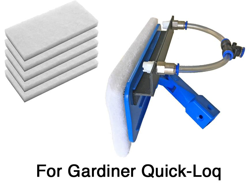 swivel waterfed scrubber for Gardiner quick-loc