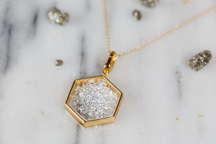 Maranatha Hexagon Locket
