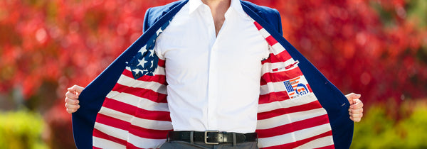 Party Like a Patriot in American Flag Apparel For Men by