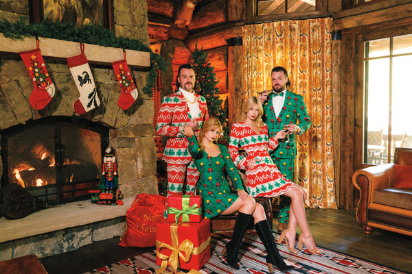 Christmas Outfits & Apparel: Suits, Dresses & Sweaters by