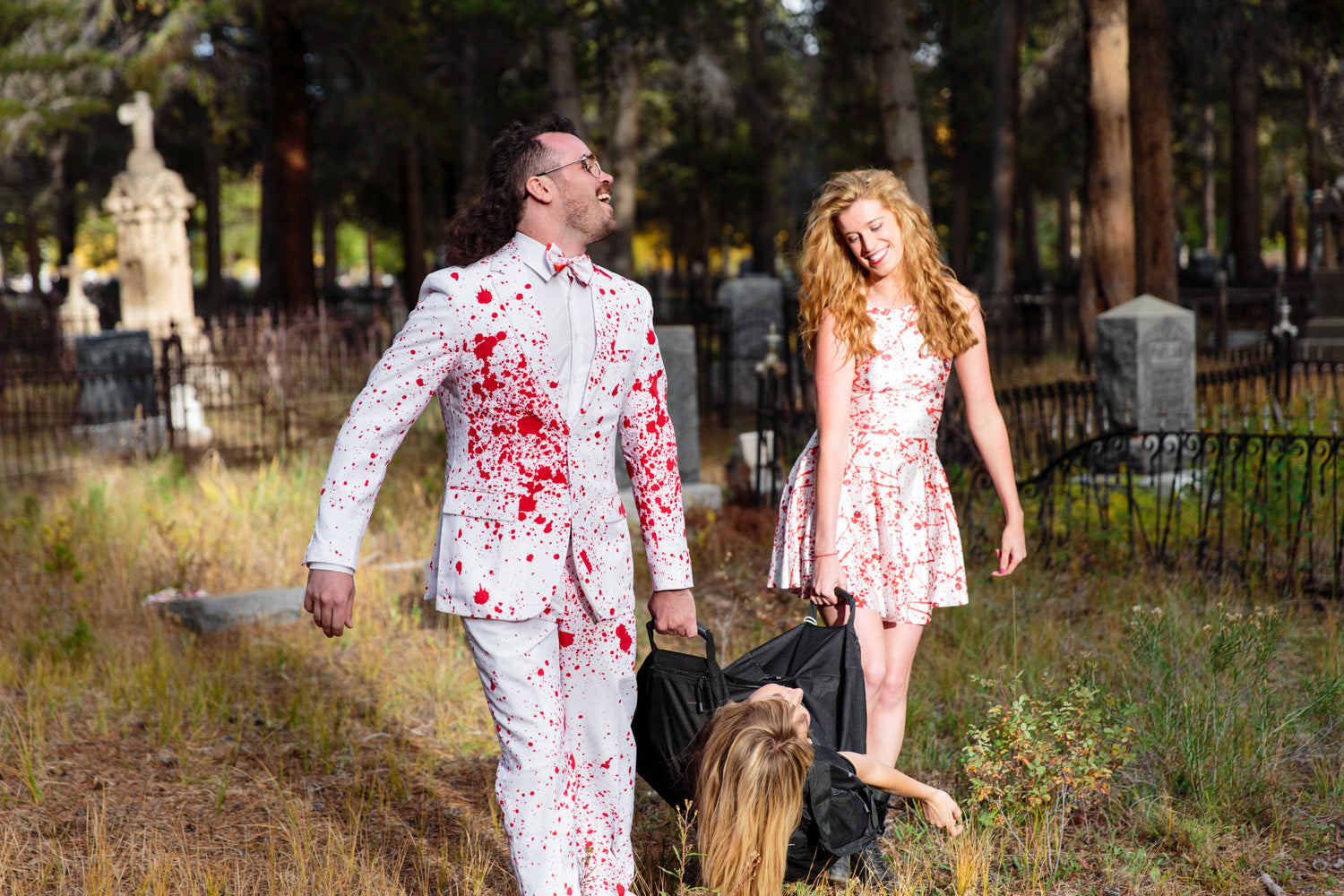 Bloody American Psycho Couples Halloween Costume