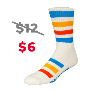 cream sock upsell product