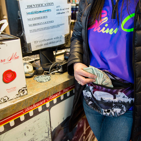 Fanny pack with money