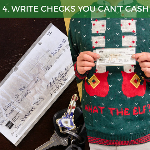 eleven times out of 10 no one notices you wrote that check to yourself  all they see is a casual  100k check left unattended by the key bowl  christmas banana hammocks that save balls  rh   shinesty