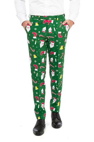 The Don Juan Ugly Christmas Sweater Suit Pants - Shinesty