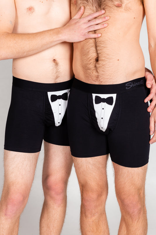The 009 | Tuxedo Boxer Couples Matching Underwear 2 Pack