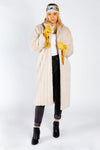 Ladies Long White Faux Fur Coat