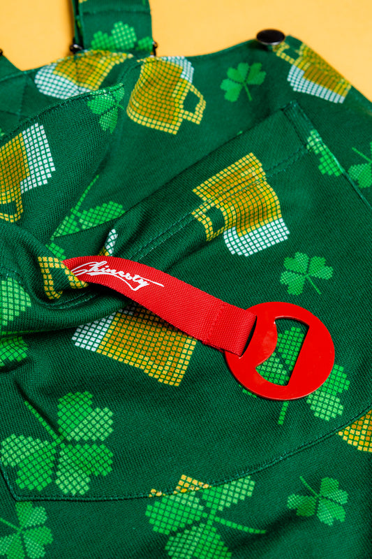 Overalls st. patricks day built in bottle opener