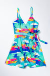 Tropical Print Vacation Wrap Dress for Women