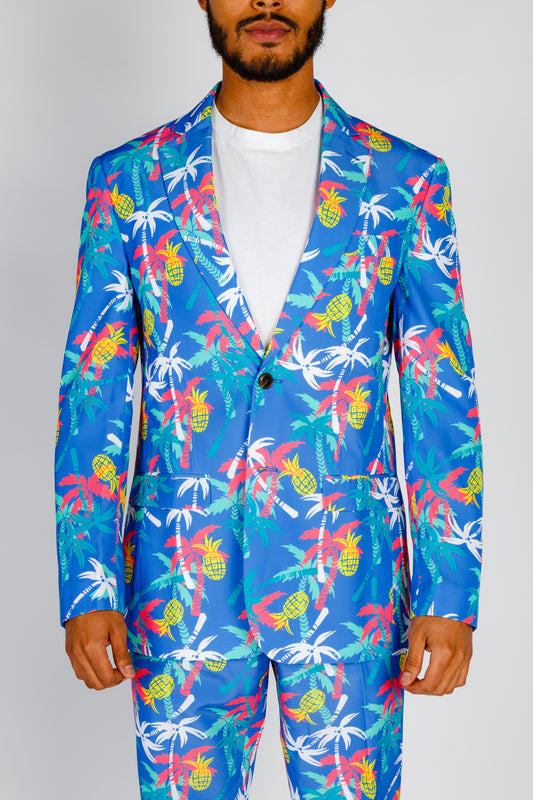 The Date Night Delight | Palm Trees and Pineapples Tropical Blazer