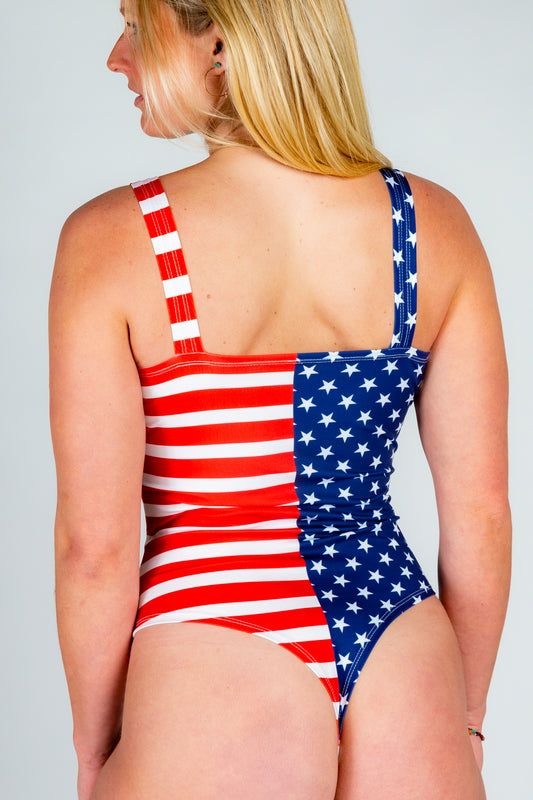 American Flag USA Women's Body Suit